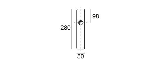 manillas con placa rectangular