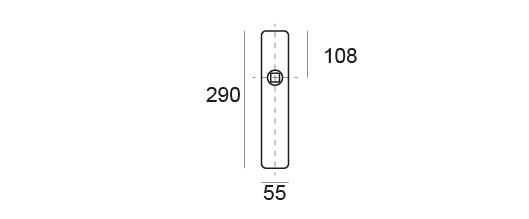 manivelas con placa rectangulart